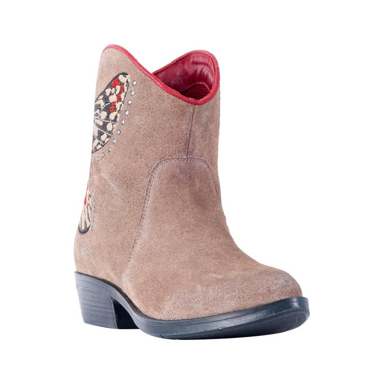 Laredo Flutter 52184 Womens Taupe Leather 7 Western Booties