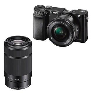 Sony Alpha a6000 24.3 Megapixel Mirrorless Interchangeable Lens Digital Camera /w Bundle