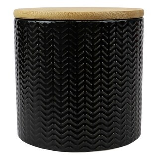 Link to Wave Small Ceramic Canister, Black Similar Items in Kitchen Storage