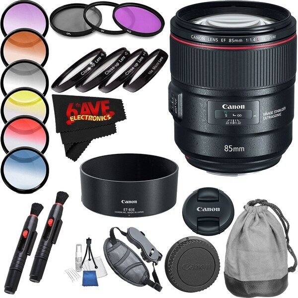 Canon EF 85mm f/1.4L IS USM Lens Professional Accessory Combo (Intl Model)