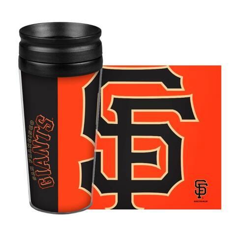 San Francisco Giants Travel Mug 14oz Full Wrap Style Hype Design - 14oz