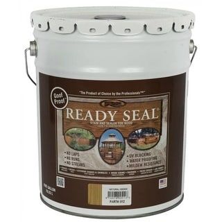 Ready Seal 512 Natural Cedar Exterior Wood Stain and Sealer, 5 Gallon