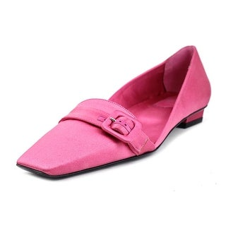 Roger Vivier Dorsey Fibbia T.25 Women Square Toe Canvas Pink Loafer