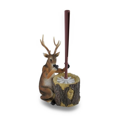 Deer Attendant Toilet Brush and Holder 2 Piece Set