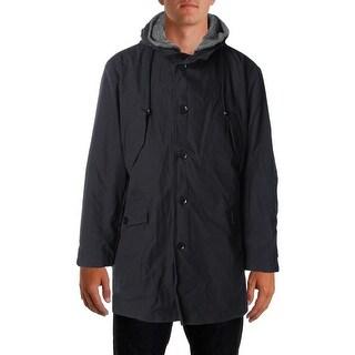 DKNY Mens Basic Coat Canvas Hooded