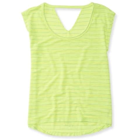 Aeropostale Womens Open-Back V Basic T-Shirt