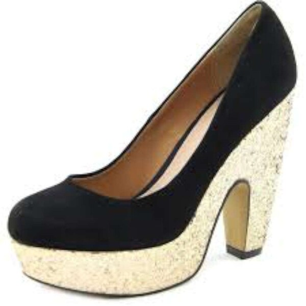 Shellys London Womens Midori Leather Round Toe Platform Pumps