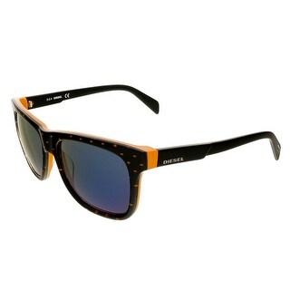 Diesel DL0136/S 44X Black/Orange Rectangle Sunglasses - 54-16-140