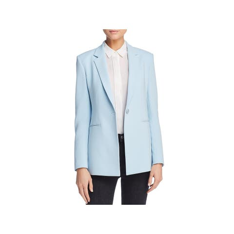 Theory Womens Power 2 One-Button Blazer Crepe Business