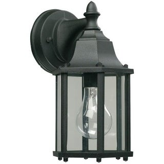 Quorum International Q786 1 Light Outdoor Wall Sconce with Clear Shade