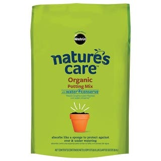 Miracle Gro 71678630 Nature's Care Organic Potting Mix, 8 Quart|https://ak1.ostkcdn.com/images/products/is/images/direct/da3416ac54054542a5d6e8a701e3dc1ce37046de/Miracle-Gro-71678630-Nature%27s-Care-Organic-Potting-Mix%2C-8-Quart.jpg?impolicy=medium