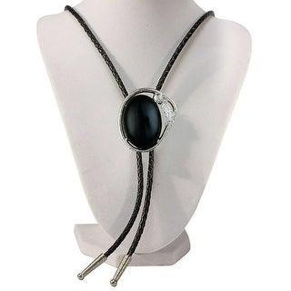 Black Stone Western Bolo Tie - One size