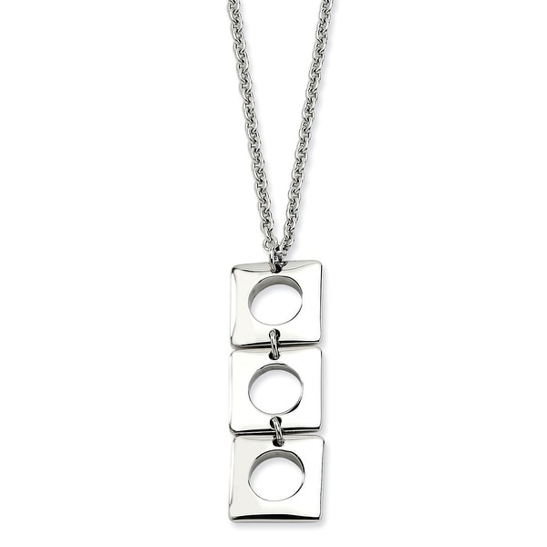 Chisel Stainless Steel Polished Squares 20 with 2 Inch Extension Necklace (2 mm) - 20 in