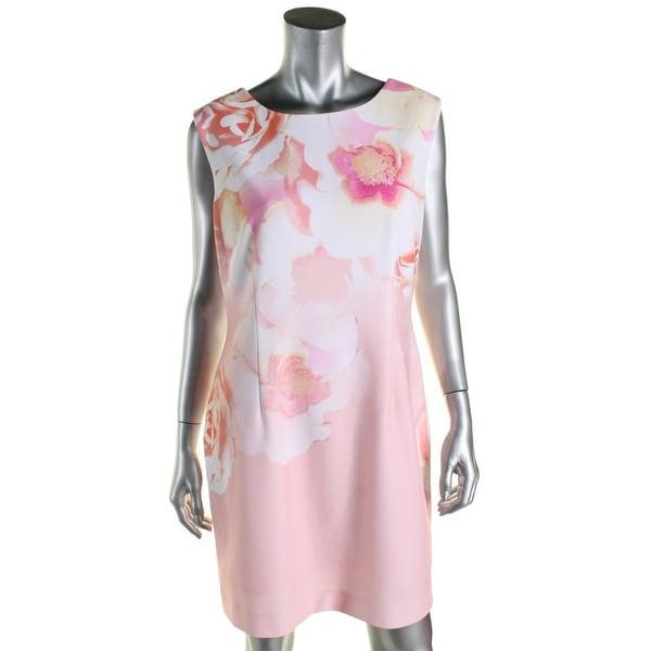 Tahari ASL Womens Wear to Work Dress Floral Print Sleeveless