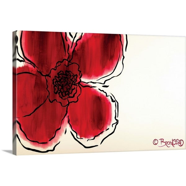 """""""The Flower Without"""" Canvas Wall Art"""