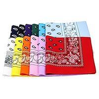 Paisley One Dozen Cowboy Bandanas(12 color bandanas)
