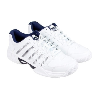 K-Swiss Express LTR Mens White Leather Athletic Lace Up Training Shoes