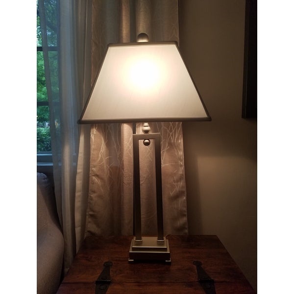 Uttermost Conrad Silverplated Iron Table Lamp Free Shipping Today 9092343