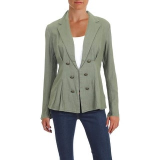 Free People Womens Blazer Pleated Cinched Waist