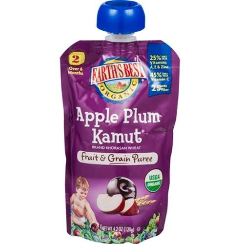 Earth's Best - Organic Apple Plum Kamut Puree ( 12 - 4.2 OZ)