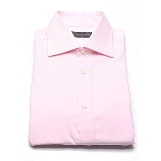 Valentino Men's Cotton Dress Shirt Pink