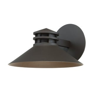 "WAC Lighting WS-W15710 Sodor Single Light 7"" High Integrated LED Outdoor Wall Sconce with Metal Warehouse Shade"