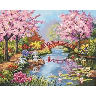 """Paint Works Paint By Number Kit 20""""X16""""-Japanese Garden"""