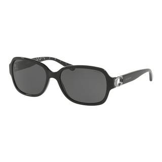 Link to Coach Rectangle HC8241 Women BLACK Frame DARK GREY SOLID Lens Sunglasses Similar Items in Women's Sunglasses