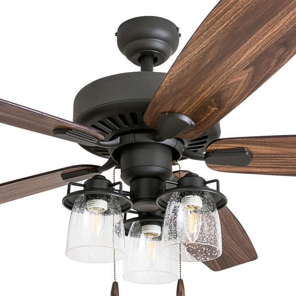 The Gray Barn Manderston 60 Inch Coastal Indoor Led Ceiling Fan With Remote Control 5 Reversible Blades 60 On Sale Overstock 30878945