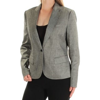 ANNE KLEIN $139 Womens New 1332 Black Blazer Wear To Work Jacket 10 B+B