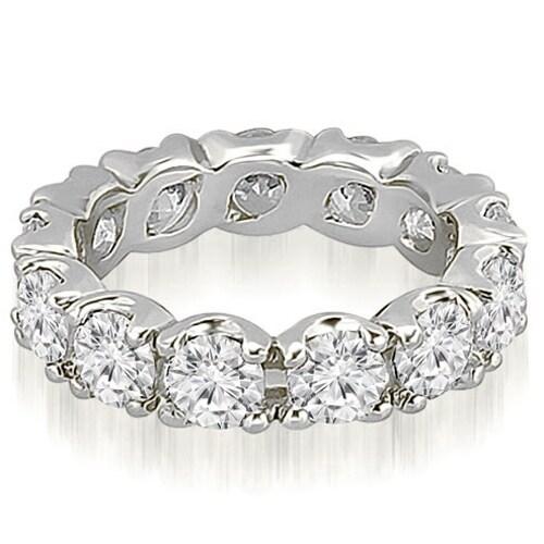 4.55 cttw. 14K White Gold Round Diamond Eternity Ring