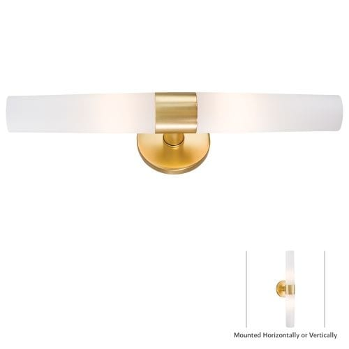 "Kovacs P5042-248 2 Light 20.25"" Width Bathroom Bath Bar in Honey Gold from the Saber Collection"