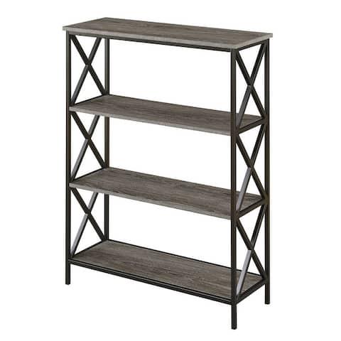 Carbon Loft Ehrlich Metal and Wood 4-shelf Bookcase