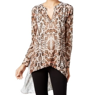 Catherine Malandrino NEW Brown Women's Size Large L Tunic Hi-Low Blouse