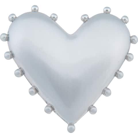 "Atlas Homewares 2224 Heart 1-1/2"" Long Heart Shape Designer Cabinet Knob - Brushed Nickel"