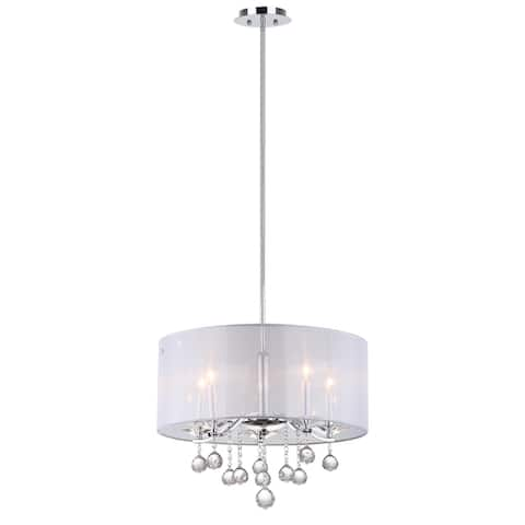 "Safavieh Lighting Etude Adjustable 5-light Chrome Pendant - 20.25""x20.25 ""x19 - 55"""