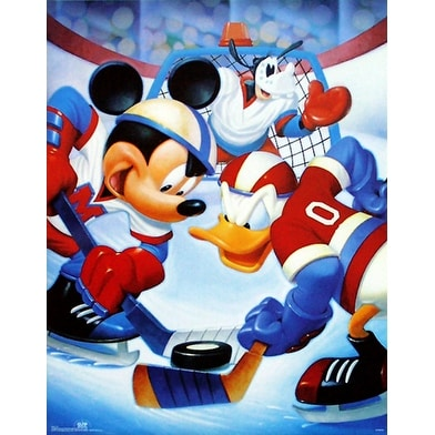 ''Mickey & Friends: Ice Hockey'' by Walt Disney Humor Art Print (28 x 22 in.)