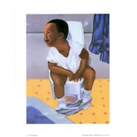 ''Indisposed'' by Stanley Morgan African American Art Print (10 x 8 in.)