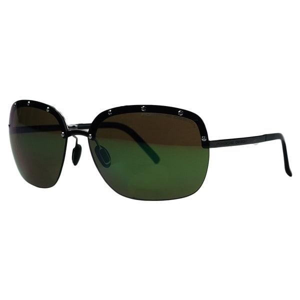 Porsche P8576-A Ruthenium Square Sunglasses - 65-15-135