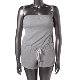 Guess Womens Juniors French Terry Strapless Romper - S
