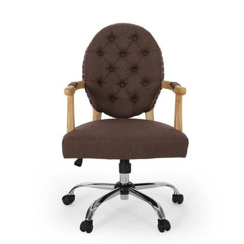 Avens Contemporary Tufted Fabric Swivel Office Lift Chair by Christopher Knight Home