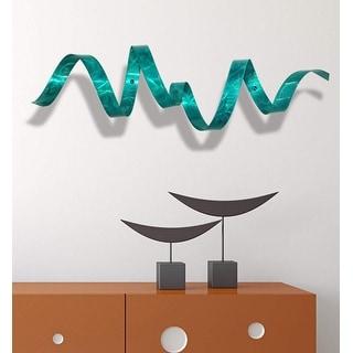Statements2000 Modern Abstract 3D Metal Wall Art Sculpture Accent by Jon Allen - Teal Wall Twist
