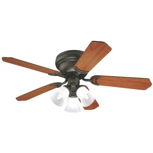"Westinghouse 7837700 Contempra Trio 42"" 5 Blade Hugger Indoor Ceiling Fan with Reversible Motor, Blades, and Light Kit Included"