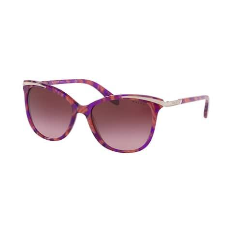 Ralph RA5203 58238H 54 Marble Pink Woman Cat Eye Sunglasses
