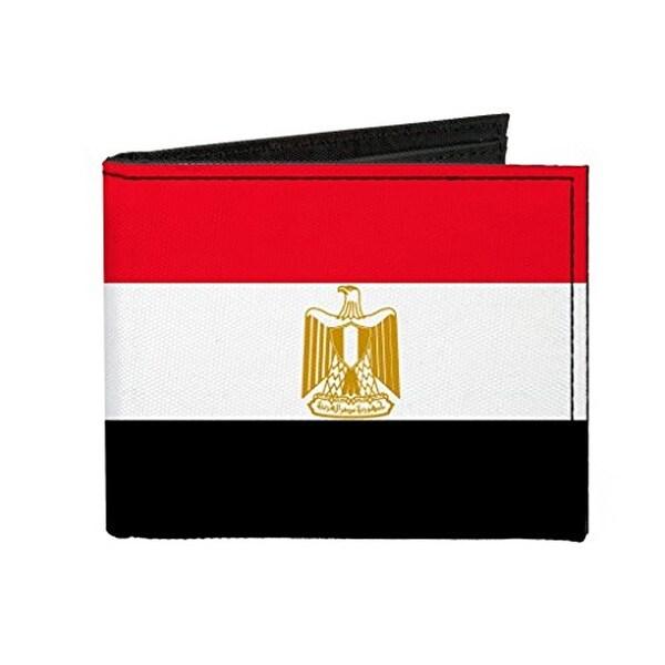 Buckle-Down Canvas Bi-fold Wallet - Egypt Flag Accessory