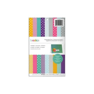 Pebbles Basics Paper Pad 5.5x8.5 Cardmaking