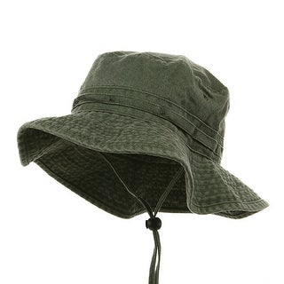 Fishing Hiking Outdoor Hat (02)-Olive W10S30F