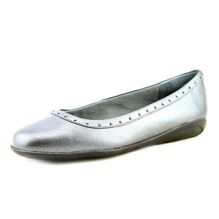 Walking Cradles Fever Women  Round Toe Leather Gray Flats