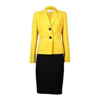 Le Suit Women's St. Germain Pocket Crepe Skirt Suit