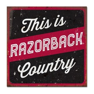 University of Arkansas Large Tin Sign